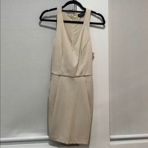 Bebe Cocktail Dress In Beige